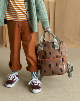 1801543 - Sticky Lemon - style - backpack small - special edition -cinnamon brown sage green